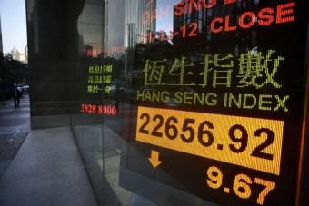 Hong Kong stocks end morning flat